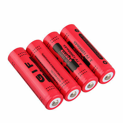 18650 3.7V 12000mAh Rechargeable Li-ion Battery for LED Torch Flashlight YR