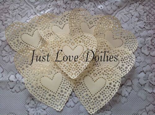 Pack of 10 Kaiser craft  Fancy Heart PAPER Doilies ***PLEASE READ LISTING***