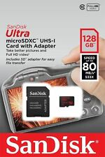 Sandisk 128GB Ultra Micro SD SDHC TF Card 80MB/s Class 10 Dig.Cam/Phone/Tablets