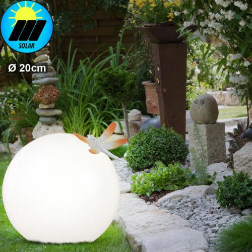 LED Solar Erdspieß Lampe Kugel Steh Strahler Grundstück Außen Wand Weg Leuchte