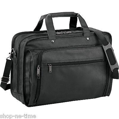 """Leeds DuraHyde Compu-Attaché 17"""" Laptop / MacBook Pro Business Bag - New"""