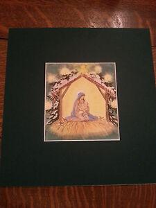 Tasha Tudor Very Rare Early Christmas Card Matted ID 15 T ...