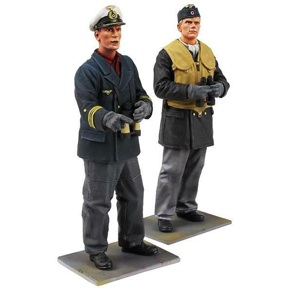 W. Britain - 13017 -  On Watch  - German U-Boat Crewman and Captain, WWII