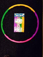 Nuevos niños Plegable Ajustable Colorido Hula Hoop Interior Al Aire Libre Fitness Gymna