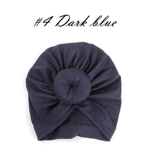 US Infant Baby Turban Toddler Kids Boy Girl Cotton Blends Hat Lovely Soft Hat