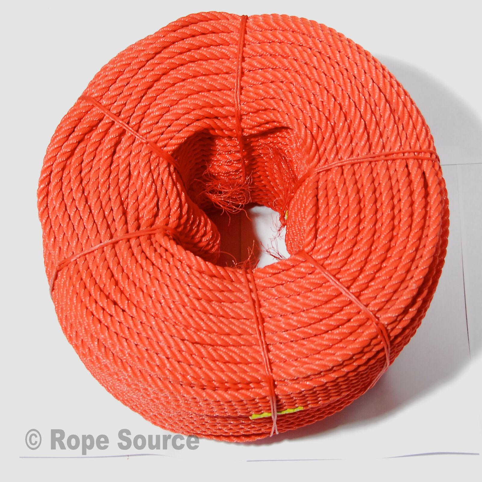 'EVERLASTO' orange FLOATING LIFELINE RESCUE ROPE - 6MM - VARIOUS LENGTHS