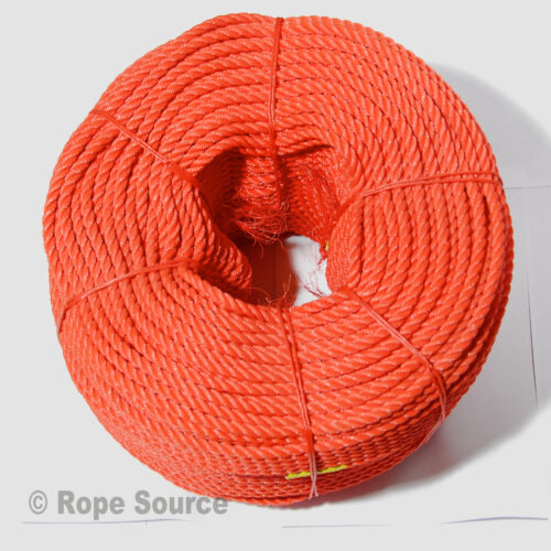 'EVERLASTO' ORANGE FLOATING LIFELINE RESCUE ROPE 14MM VARIOUS LENGTHS