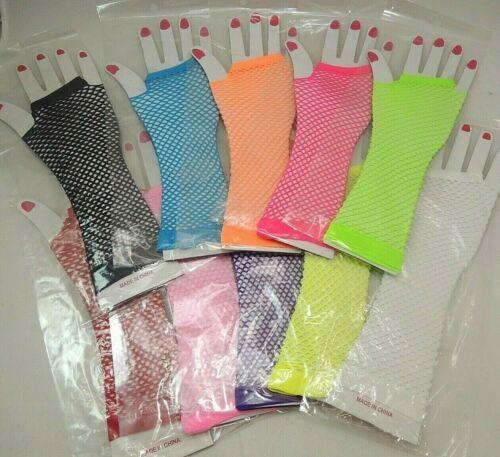 Pick your color and PCs *US SELLER* Net Gloves Elbow Length Fishnet Gloves