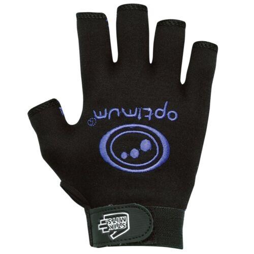 Optimum Sports cette limites Lightweight Half doigt Elastic Wrist Strap rugby Glove