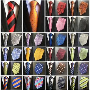 Men-039-s-Paisley-Floral-Jacquard-Woven-Tie-Wide-Wedding-Party-Formal-Necktie