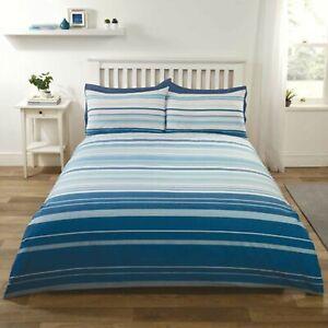 Duvet-Set-Cover-Single-Polyester-Cotton-Bedset-Blue-Stripy-Design-Bedding-Set