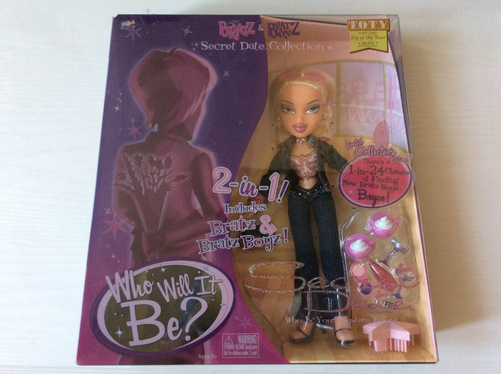 Bratz Secret Date Chloe and Mystery Date 2 in 1 Doll set ,Rare, collectible