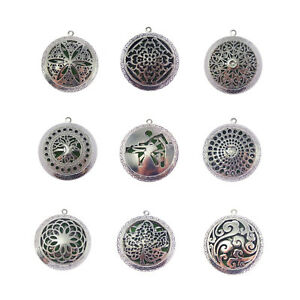 2pcs-Silver-Aromatherapy-Essential-Oil-Perfume-Diffuser-Locket-Charms-Necklace