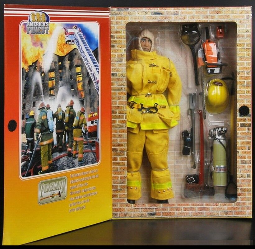 21st Century Toys  America's Finest Finest Finest 12  Yellow Fireman (NIB) e09d99