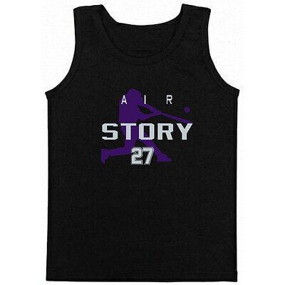 "Tie Dye Trevor Story Colorado Rockies /""Air Story/"" jersey T-shirt"