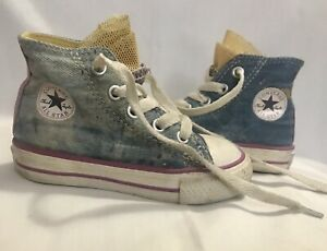 aa7d313fcb85 CONVERSE ALL STAR HIGH TOP JEAN PINK WHITE PAINT SPLASH TODDLER 5