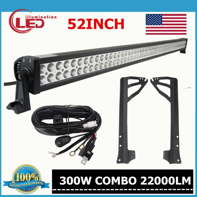 "Fits Upper Mounting Brackets 07-16 Jeep Wrangler JK 52/""inch 300W LED Light Bar"