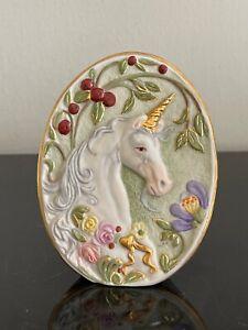 Cybis Porcelain Unicorn Plaque