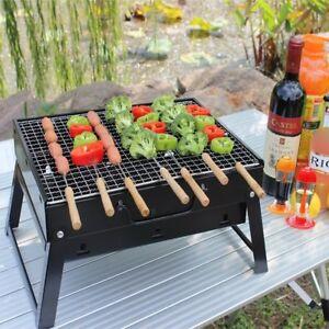 barbecue bbq charbon acier grille barbecue charbon de bois inox camping ebay. Black Bedroom Furniture Sets. Home Design Ideas