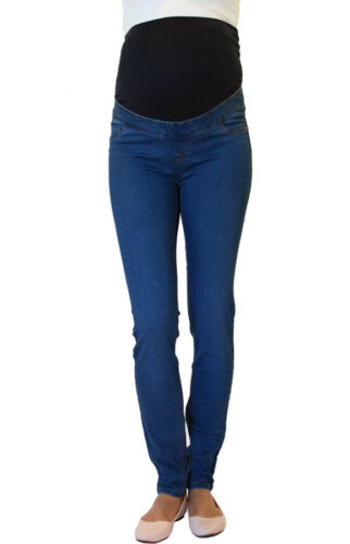 UK Slim Pregnancy Stretchy Jeans NEW LOOK Skinny Over Bump Maternity Jeggings