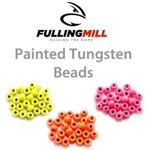 Fulling-Mill-Painted-Tungsten-Beads-25-Packet-FL-ORANGE-New-2019-Stocks