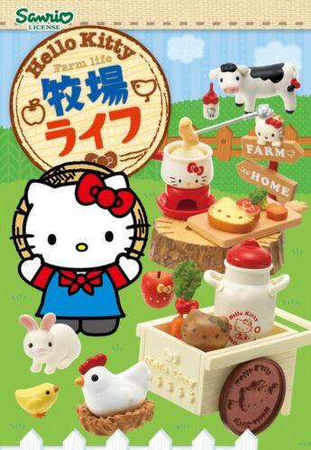 Re-Ment Sanrio Miniature Hello Kitty Bokujo Farm Life New Arrival Full set of 8