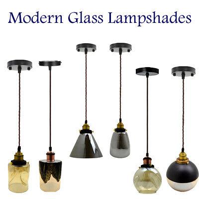 Neue Moderne Vintage Industriell Retro Loft Glas Deckenlampen Schirm Hängelicht