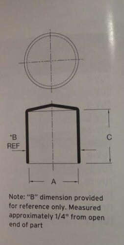 BLUE 10 round rubber vacuum dust cap thread protector pipe cover 3//16 I.D.*b