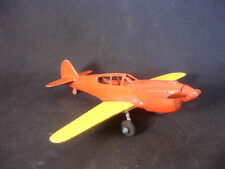 Old Vtg Hubley Toy Diecast Yellow Orange Airplane Plane Toy Made In USA