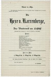 Theater-Ellzee-Theaterplakat-von-1869-Die-Hexe-von-Karrenberge