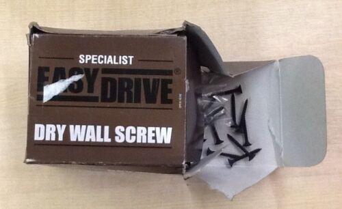 BNIB Easydrive 3.5x32mm Dry Wall Black Screw 1000 Pack F Box Damage DIY