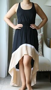 Black Godfrey Uk 10 Maxi Colourblock Jay 6 Us Dress pBcWTqT57P