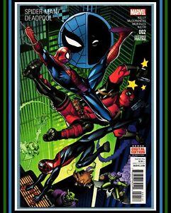 Spider-Man-Deadpool-2-2nd-PRiNT-VaRiaNT-HTF-2016-Marvel-Comics-vs-NM-9-4
