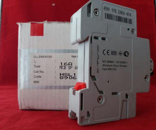 Havells HSL116B 16A 16AMP B16 tipo B unipolar SP 1P Reja de desminado fusible Interruptor Nuevo