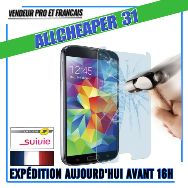 Vitre Verre Trempé Samsung  S5 galaxy Anti casse Authentiqu Films Protectio