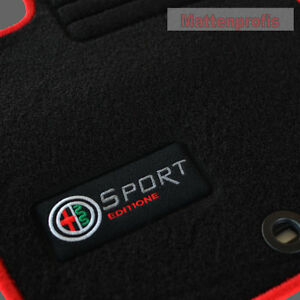 velours fu matten edition logo f r alfa romeo giulietta. Black Bedroom Furniture Sets. Home Design Ideas