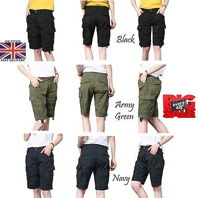 Intellektuell Women's Military Combat Short Girls Cargo Pants Ladies Cargo Twill Short Uk 6-16