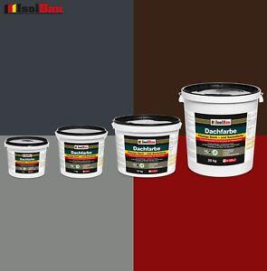 Dachfarbe-4-kg-25-kg-Sockelfarbe-Dachlack-Ziegelrot-Anthrazit-Steingrau-Braun