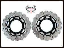 Front Brake Disc Rotors Set For Yamaha R1 2004/06 & FZ1 2006/2013  Wave Rotors
