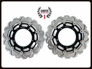 Front-Brake-Disc-Rotors-Set-For-Yamaha-FZ1-2006-2013-Wave-Rotors