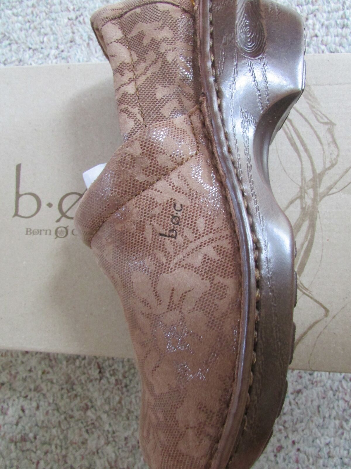 NEW BORN SLIP B.O.C PEGGY TAN SLIP BORN ON CLOG schuhe damen 7.5 braun AUTUMN 32006e