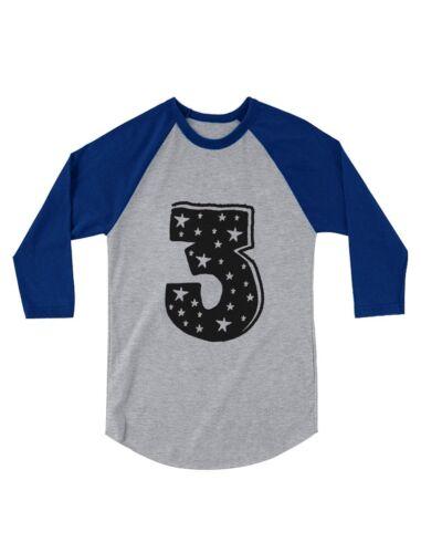I/'m 3 Years Old Birthday Gift Superstar 3//4 Sleeve Baseball Jersey Toddler Shirt