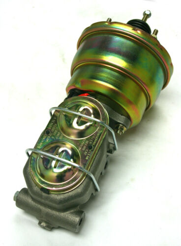 "Zinc Pedal Disc Drum Valves 1955-1959 Chevy Truck 7/"" Power Brake Booster Kit"