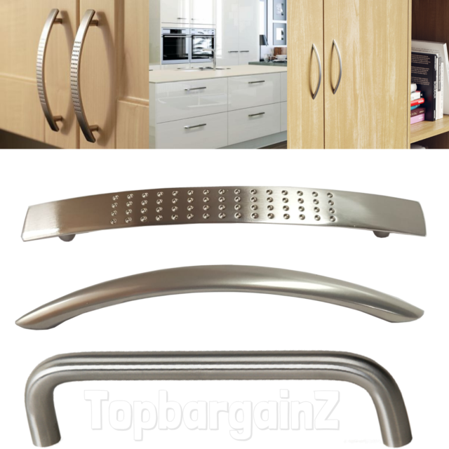 Cabinet Handles Kitchen Cupboard Door Drawer Brushed Stainless Steel Boss Bar