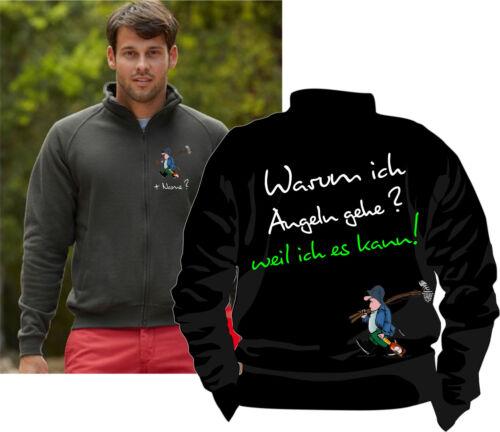 Angler Motiv Angeln Pullover Sweatshirt Anglerjacke Bekleidung Übergrößen 139