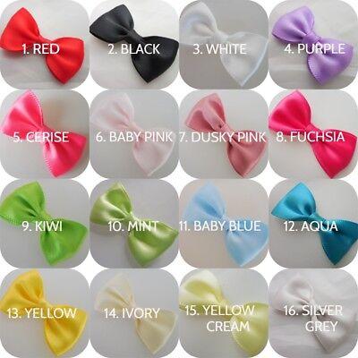 "Eerlijk Satin Ribbon Mini Bow Tie -handmade-4.5cm(13/4""inches)-pkt 6-wedding Bows"