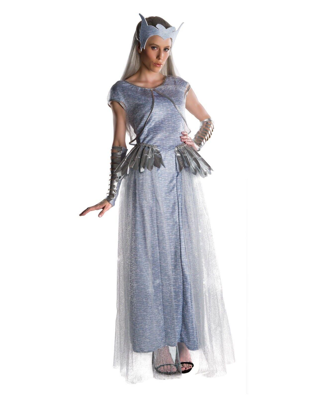 Adult Women S Snow White Huntsman Deluxe Freya Costume Dress Crown Ice Queen For Sale Online