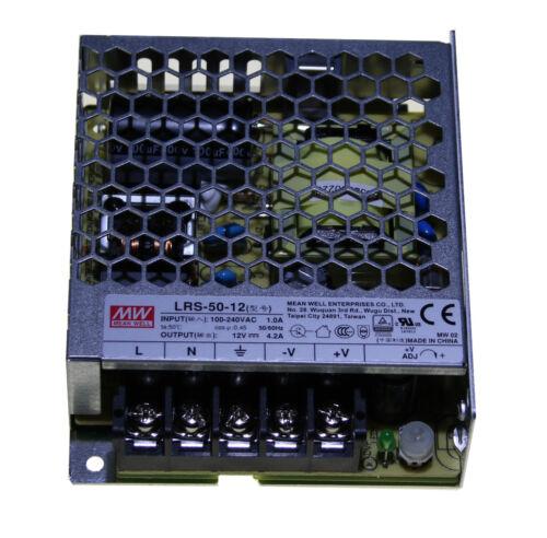 MW Mean Well Netzteil 230V AC ~ 12V DC Trafo für LED RGB 50W /& 100W Power Supply