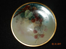 ANTIQUE HAND PAINTED RASPBERRY FRUIT JPL LIMOGES FRANCE PORCELAIN PLATE