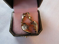 Juicy Couture Charm Bff Broken Heart Duo Goldtone Boxed $68